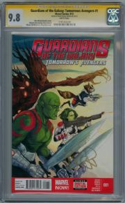 Guardians Of The Galaxy Tomorrow's Avengers #1 CGC 9.8 Signature Series Signed Brian Michael Bendis Marvel comic book